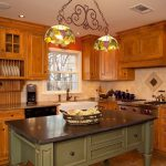Soapstone Kitchen Island Wall Cabinets Window Beautiful Hanging Lights Ceiling Lamps Drawers