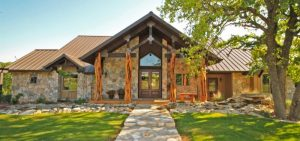 texas hill country house plans with limestone materials for ranch style