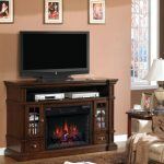 tv table cabinets and electrical fireplace for traditional living room