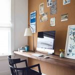 wall computer table paintings wall decor carpet chair computer modern lamp window photo home office