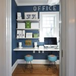 Wall Computer Table Window Letters Chairs Wood Floor Eclectic Home Office Photos