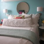 white beddings designs with coloured sheets pillows lamp eclectic kids room long shelf