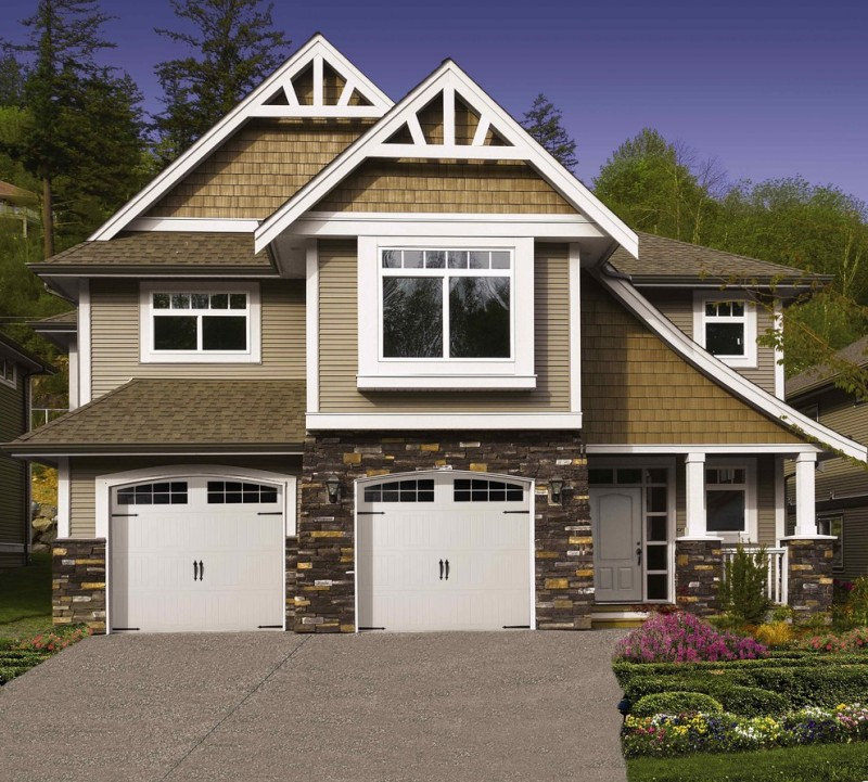 Gripped ideas of garage door windows decohoms for Two car garage doors