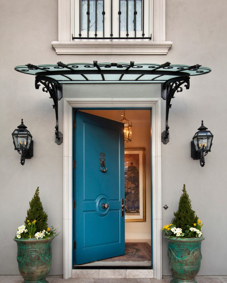 Beautifully Artistic Front Door Canopy Decohoms
