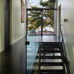 Baseboard Trim Style Stairs Dark Floor Railing Painting Glass Modern Staircase