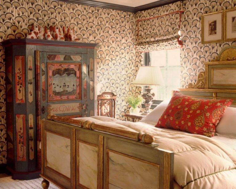 Eclectic Bedroom Vintage Interior Design