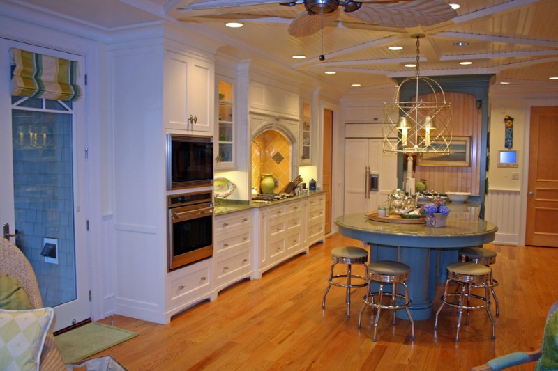 Amazing custom made kitchen islands to draw inspirations for Custom built kitchen cabinets