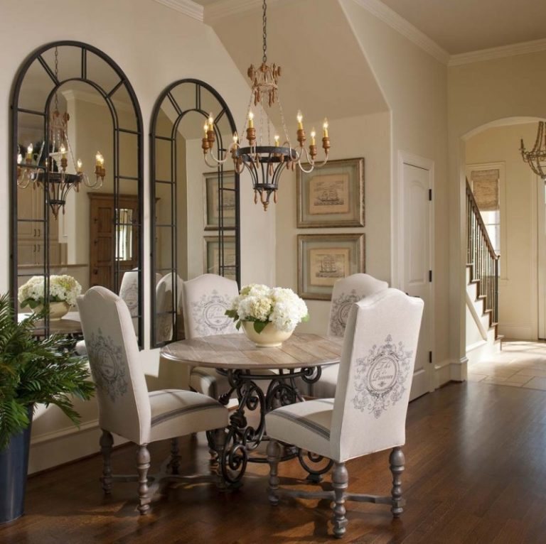 Dining Room Mirror: Creatively Arranged Decorative Mirrors For Dining Room