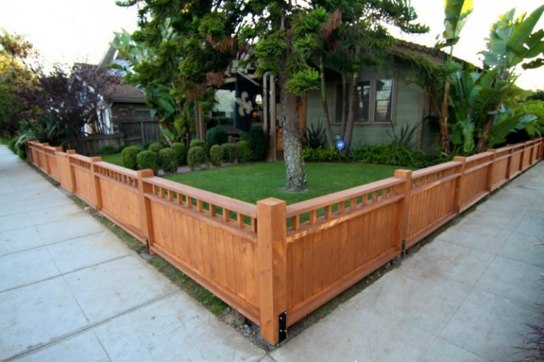 decorative privacy fence corner fence hardi board outdoor entertainment areas yard fence craftsman style fence low & Modest Decorative Privacy Fence Ideas | Decohoms