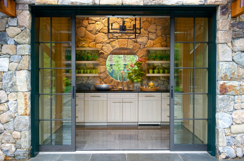 Remarkable exterior pocket doors ideas decohoms for Patio doors for front of house