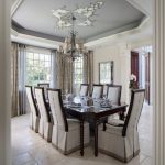 French Provincial Dining Room Ceiling Stencil Traditional Dining Room Ideas Traditional Enclosed Dining Room Ceramic Floor