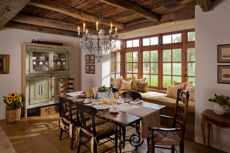 French Provincial Dining Room Furniture Farmhouse Dining Room Natural  Rattan Lacquered Basket Grace Feyock Agate Stone