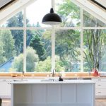 garden windows for kitchen black pendant undermount sink flat panel cabinets island solid surface countertops hardwood floors kitchenette farmhouse design