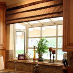 garden windows for kitchen brown cabinets granite backsplash undermount sink faucet blinds appliances traditional design