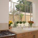 garden windows for kitchen granite countertops flat panel cabinets drop in sink faucet stove mediterranean design