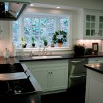 Garden Windows For Kitchen Granite Countertops White Cabinets Island Undermount Sink Stove Kitchenette Ceiling Lights Traditional Design