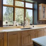 garden windows for kitchen light coloured floor faucet sink wall cabinet ceiling light countertop rustic room