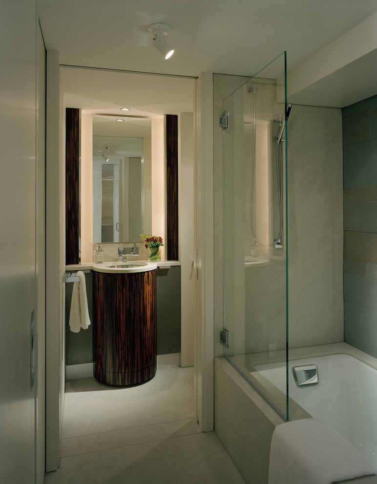 glass doors for bathtub vanities sink faucet marble tiles ceiling lamp towel rack tub contemporary style