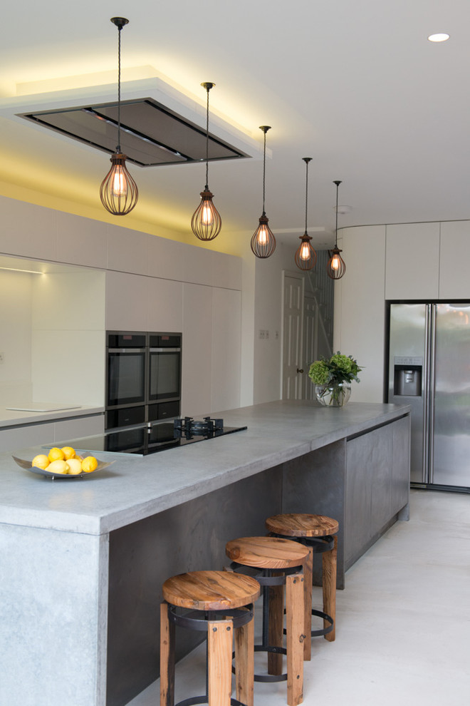 Kitchen island with bench seating