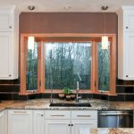 greenhouse windows for kitchen wall cabinets countertops porcelain backsplash hanging lamps traditional style room
