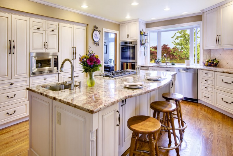 greenhouse windows for kitchen wall cabinets hardwood floor stools kitchen island clock flowers traditional style room