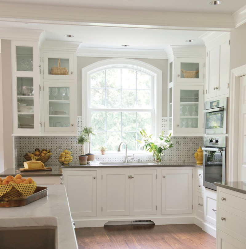 greenhouse windows for kitchen wood floor wall cabinets with glass doors sink faucet plants traditional style