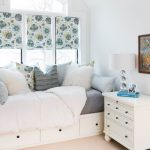 Guest Bed For Small Spaces Under Bed Storage Pillows Painting Windows Bedside Table Drawers Lamp Transitional Bedroom