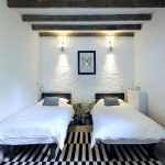 Guest Beds For Small Spaces Mirror Pillows Wall Lamps Carpet Farmhouse Bedroom