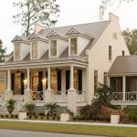 House Plans On Pilings Nice Foundation Brown Roof Cream Home Ceiling Fan On The Porch Antique Light Pendants