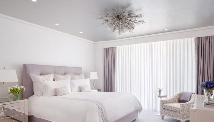 hudson park bedding curtains chair tables flowers pillows lamps traditional bedroom ceiling lights