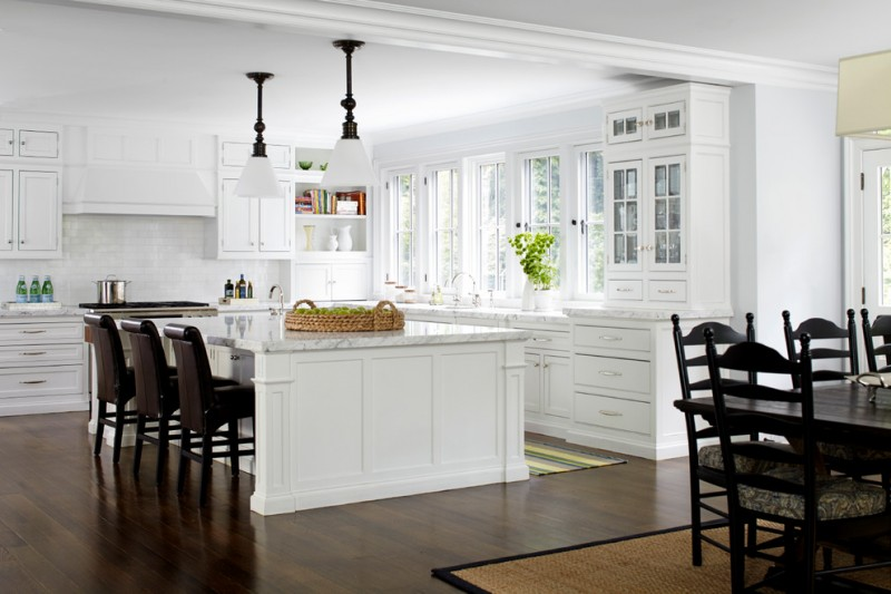 Kitchen Remodeling Nyc Hardwood Floor Wall Cabinets Chairs Table Carpet  Lamps Kitchen Island Transitional Room