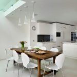 kitchen table sets ikea white chairs hanging lamps flowers cabinets faucet sink contemporary style room