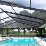 Large Interior Pool With Semi Transparent Screen Square Shaped Interior Pool