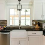 Lighting Pendant Lights For Kitchens Pull Down Spray Faucet Fireclay Farm Sink Black Granite Countertop White Cabinet