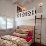 Loft Beds For Teenage Girls Beach Style Bedroom Transitional Beach House Cream Linen Upholstered Platform Bed