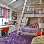 Loft Beds For Teenage Girls Safavieh Shag Light Purple Rug White Table Lamp Natural Bunk Bed Bed Curtain
