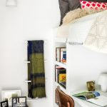 Loft Ladder Ideas Built In Table Bookshelf Ottoman Bed Throw Pillows Chairs Wall Lamp Decoration Contemporary Design
