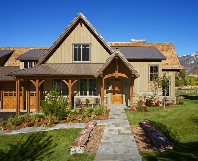 Beautiful ideas of luxury ranch house plans to be stunned for Stone and wood house plans