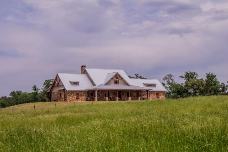 Luxury Ranch House Plans Pillars Roof Window Plants Farmhouse Home Exterior