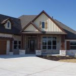 Luxury Ranch House Plans Stone Walls Doors Windows Gable Roofs Brown Pillars Craftsman Design