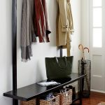 modern entrway bench welkom hall tree bench with coat rack colourful rug umbrela holder
