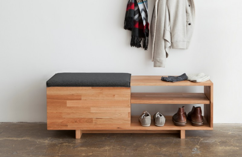modern entry bench lax storage bench shoes shelf hanging coat wooden bench