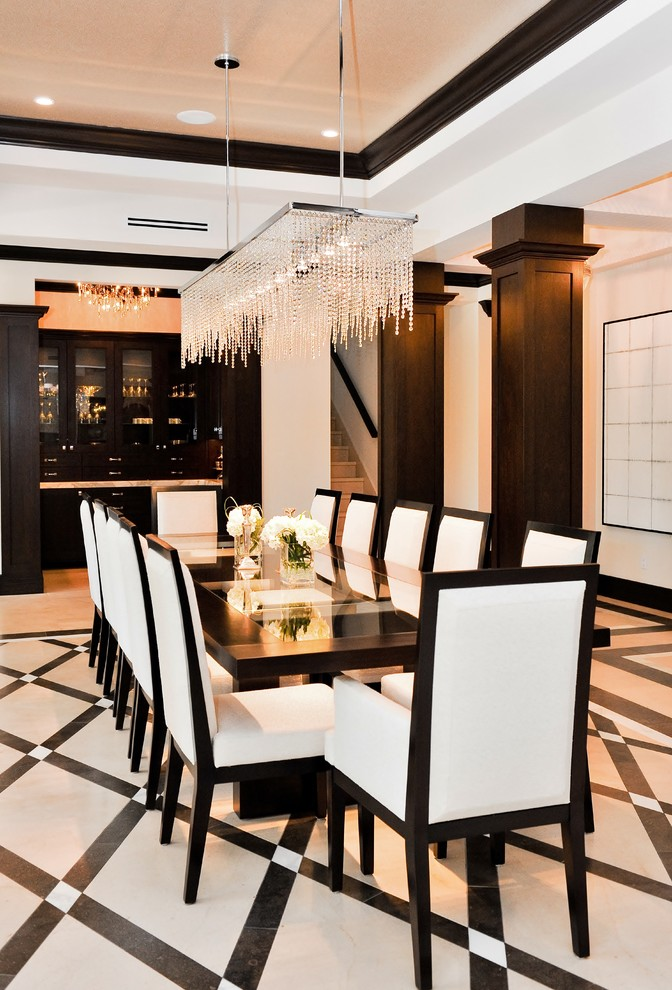 Coolly modern formal dining room sets to consider getting for Modern dining room sets