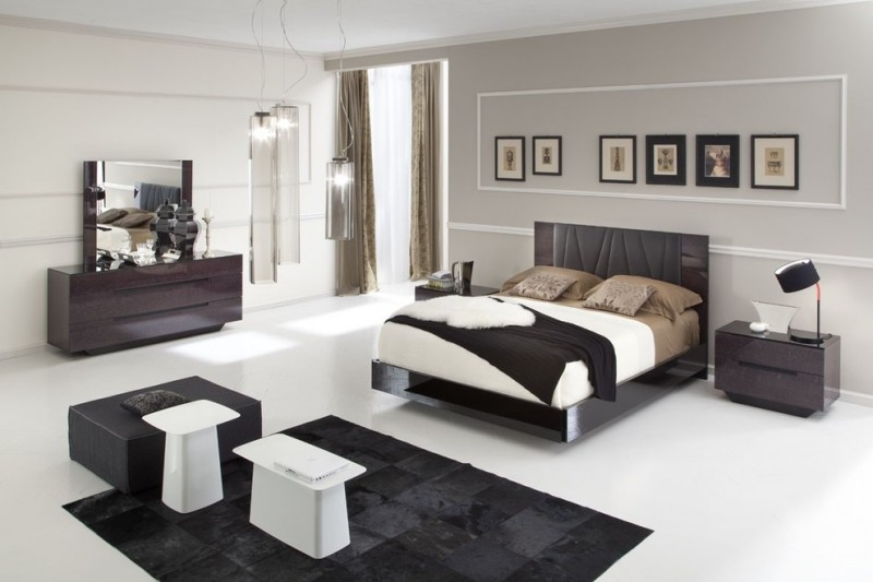 Modern king size bedroom sets for majestic bedroom decohoms Bedroom wall designs in pakistan