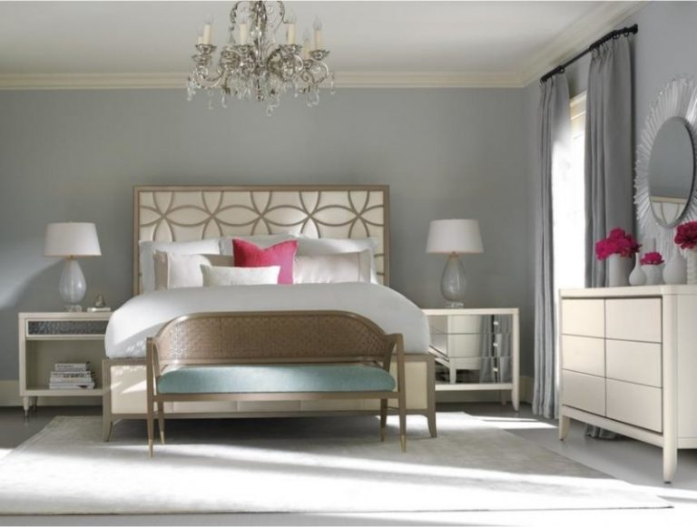 Modern King Size Bedroom Sets Sleeping Beauty King Bed Beautiful Dresser  Unique Mirror Pink Flower Mirrored