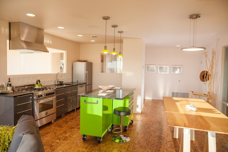 movable kitchen island with seating stove sink faucet ceiling lights hanging lamps unique chair stool table contemporary style room