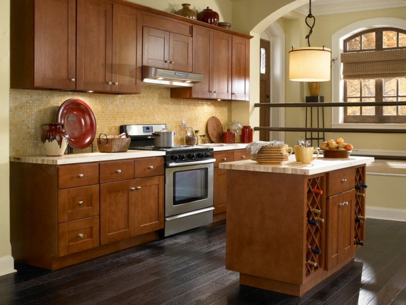 Natural Cherry Kitchen Cabinets fancy and natural cherry kitchen cabinets – decohoms