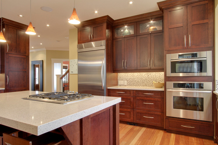 Merveilleux Natural Cherry Kitchen Cabinets Cherry Kitchen Electric Single Wall Oven  Smeg Classic Gas Cooktop Built In