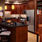 natural cherry kitchen cabinets contemporary kitchen rockford door cherry russet finish transitional dining room unique mini pendant