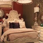 Ornate Bedroom Furniture Bed White Cabinets Hanging Lamps Round Mirrors Wall Decorations Pillows Mediterranean Style